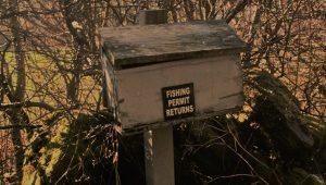 Fishing permit box