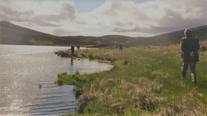 Trout fishing on a hill loch