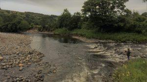 Junction pool in low water